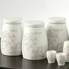 Kitchen Storage Canisters Ceramic Tea Coffee Sugar Jars Canister Set Of 3 Kitchen Storage