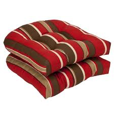 Amazon Pillow Perfect Indoor Outdoor Red Brown Striped Wicker