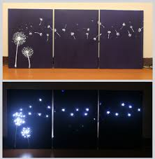 Diy Wall Light Panel Design Three Panel Light Up Dandelion Wall Art Crafts