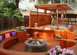 Decking Designs For Small Gardens Amazing 48 Hot Tub Deck Ideas Secrets Of Pro Installers Designers