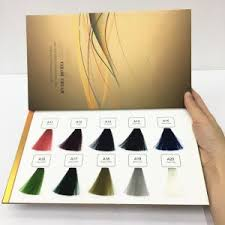 Hair Dye Colors Chart Foldable Hair Dye Color Chart Hair Swatch Color Chart For Hair Colors