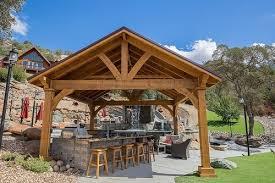 cedar pavilion kits. Modren Pavilion 17x17 Grand Cedar Pavilion Rough Sawn Western Red Cedar Maple Color  Stain Copperopolis  Throughout Pavilion Kits L