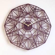 sapphire wall clock large laser cut unique mid century modern