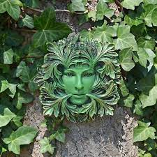 green man lady of the forest wall