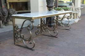 French Vintage Art Deco Low Fer Forge Wrought Iron Florist Console ...