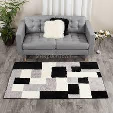 shearling sheepskin area rug 4x6 ft in pixel