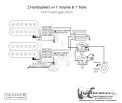 2 humbuckers 3 way toggle switch 1 volume 1 tone schematics guitarelectronics com guitar wiring diagram 2 humbuckers 3 way toggle switch 1 volume 0tone 000