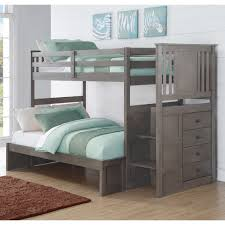 wonderful modern bunk beds twin over full bed size pine wood