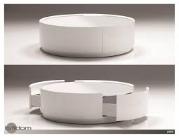 modern round white coffee table oval glass and iron big round coffee