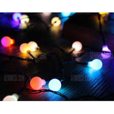 30 Lights Rgb Globe Ball Automatic Color Changing Led Christmas Lights Fairy Led Christmas String Lights Colorful Decorative Lights For Festival