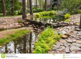 Artificial Pond Design Artificial Pond Among Pines Stock Image Image Of Japan