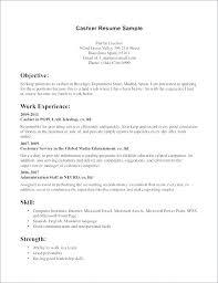 Restaurant Cashier Resume Resume Objective Cashier Cashier