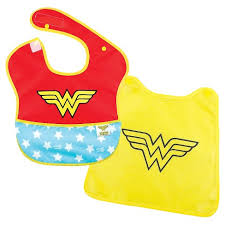 Bumkins <b>Baby</b> Girls' Wonderwoman <b>Waterproof</b> Superbib With Cape ...
