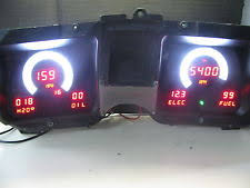 intellitronix parts accessories 1968 chevelle digital dash instrument gauge cluster red leds intellitronix
