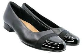 Clarks Womens Chartli Diva Pumps Slip On Block Heel Details About Clarks Artisan Chartli Diva Pump Women 8 5 Xw Black Leather Cap Toe Slip On Shoe
