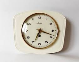 image is loading vintage art deco style 1960s ceramic kitchen wall  on art deco wall clock antique with vintage art deco style 1960s ceramic kitchen wall clock mauthe made