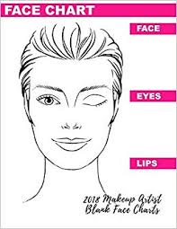 2018 Makeup Artist Blank Face Charts Eye Make Up Chart