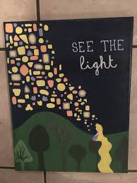see the light tangled themed canvas disney tangled by elise bender