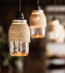 Mason Jar Lights - Rope Wrapped Mason Jar Lights - DIY Ideas with Mason  Jars for