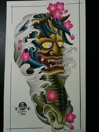 тату эскизы японские татуировки карп кои тату драконы 117