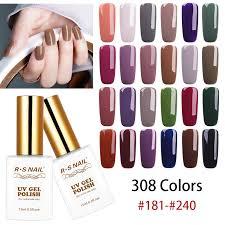 <b>RS NAIL 15ml UV</b> Color Nail Gel Polish 308 Colors Gel Varnish ...