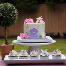 a fairy garden cake for a little girl turning 7