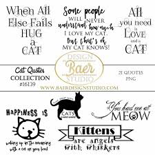 Cat Quotes Inspiration Cat Quotes Word Art Clipart Cat Word Art Cat Planner Clip Etsy