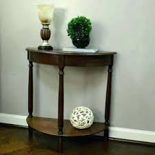 half circle entry table unfinished entry table simplicity walnut half round console table unfinished foyer table