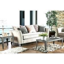 light gray sofa transitional style decor blue gray living room dovetail decor graphic rug sofa
