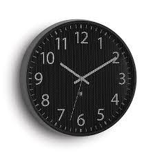 Perftime Modern Black Wall Clock