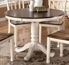 white round kitchen table. this....want this for my kitchen table. whitesburg round dining table white o