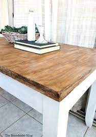 old laminate table with gel stain