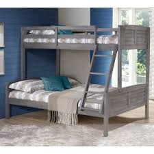 Donco Louver Twin over Full Bunk Bed - Antique Grey Over Beds | Hayneedle