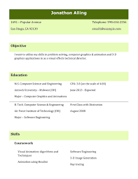 Best Resume Templates For Freshers It Professional Cover Letter