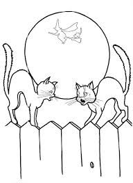 Small Picture Halloween Cat Coloring Pages Coloring Pages