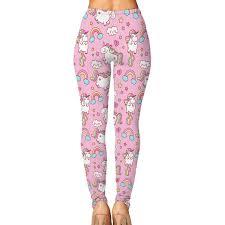 Light Pink Workout Pants Amazon Com Lovely Rainbow Unicorn Light Pink Leggings Pants