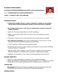Resume Format For Experienced Susanta S SubudhiResume2424 Years Experience Pdf Format 7