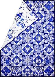 Blue & White Porcelain Quilt &  Adamdwight.com