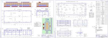 Проект промышленного здания скачать Чертежи РУ Дипломный проект колледж Одноэтажное промышленное здание в г