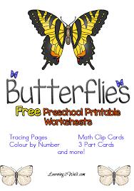 FREE Preschool Butterfly Worksheets | Free Homeschool Deals ©