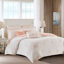 Buy Quilted Duvet Covers from Bed Bath & Beyond & Harbor House Twin Seaside Coral Quilted Duvet Cover in Coral/White Adamdwight.com