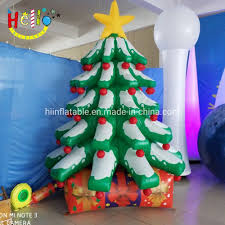 Inflatable Christmas Tree With Lights Hot Item Giant Event Stage Decoration Inflatable Christmas Tree