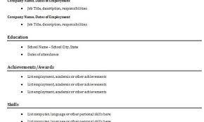 Simple Easy Resume Discreetliasons Com 30 Basic Resume Templates Easy Resume Template