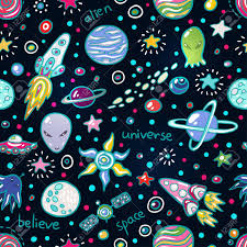 Space Pattern Magnificent Cute Space Seamless Pattern Funny Background For Kids Who Love