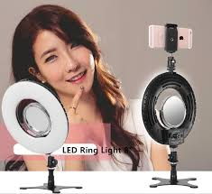 details about 8 inch dimmable 5500k led ring light kit w stand for makeup phone selfie video