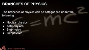 physics assignment help  5 branches of physics