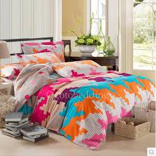 colorful chic patterned designer teen bedding sets king size