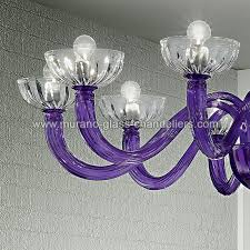 andronico murano glass ceiling light 10 lights purple