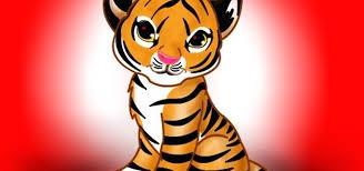 draw a cute tiger