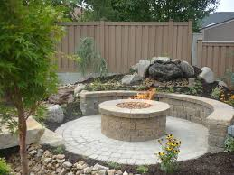 Stacked Stone Fire Pit concrete grill pad area circular paver patio with fire pit 8959 by uwakikaiketsu.us